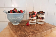 colander with parfait